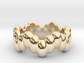 Biological Ring 28 - Italian Size 28 in 14k Gold Plated Brass
