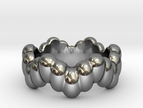 Biological Ring 29 - Italian Size 29 in Fine Detail Polished Silver