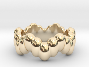 Biological Ring 30 - Italian Size 30 in 14K Yellow Gold
