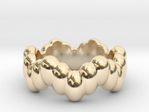 Biological Ring 32 - Italian Size 32 in 14k Gold Plated Brass