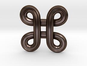 Star Symbol in Polished Bronze Steel