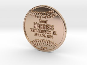 Griffey Replica Plaque in 14k Rose Gold