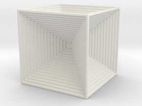 CUBES IN A CUBE in White Natural Versatile Plastic