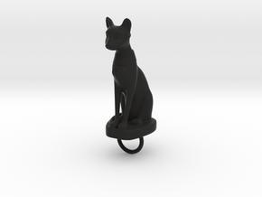 Bast Keychain in Black Strong & Flexible