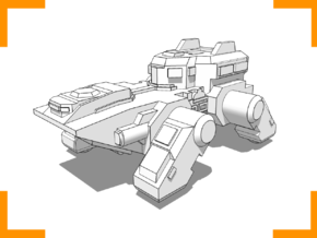 """""""Pangolin"""" Armored Carrier 6mm in White Natural Versatile Plastic"""