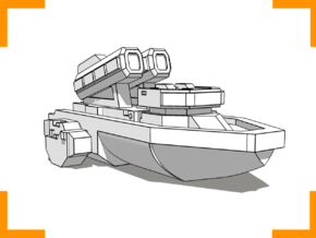 """Quarterback"" Class Missile Boat 6mm in White Natural Versatile Plastic"