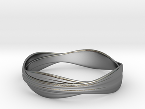 Cloth ring(Japan 18,America 9,Britain R)  in Polished Silver
