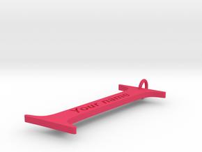I in Pink Processed Versatile Plastic