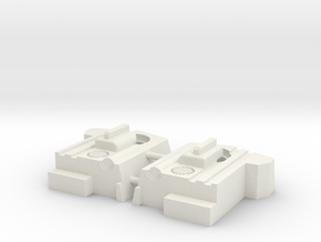 Blocky Glider Chest Extension in White Natural Versatile Plastic