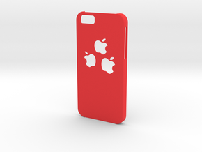 Cyber Apple Cutie Mark - Iphone 6 Case in Red Processed Versatile Plastic