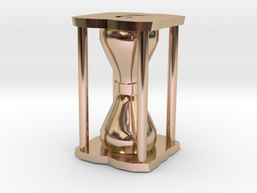 Number Hourglass Token in 14k Rose Gold Plated Brass