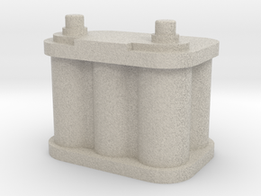 1/10 Scale Battery  in Natural Sandstone