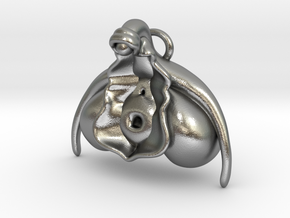 Anatomical Clit Charm in Natural Silver: Small