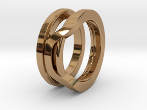 Balem's Ring1 - US-Size 7 (17.35 mm) in Polished Brass