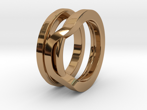 Balem's Ring1 - US-Size 7 1/2 (17.75 mm) in Polished Brass