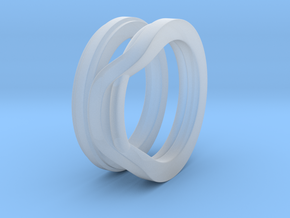 Balem's Ring1 - US-Size 7 1/2 (17.75 mm) in Smooth Fine Detail Plastic