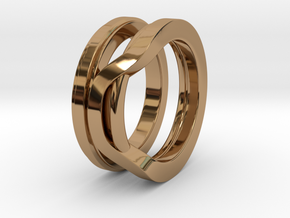 Balem's Ring1 - US-Size 13 (22.33 mm) in Polished Brass