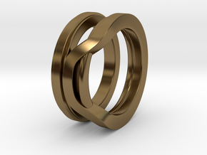 Balem's Ring1 - US-Size 9 1/2 (19.41 mm) in Polished Bronze