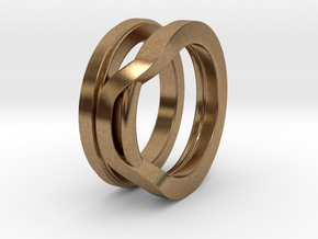 Balem's Ring1 - US-Size 9 (18.89 mm) in Natural Brass