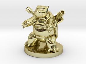 Blastoise Pokemon in 18k Gold