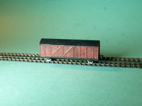 Boxcar / Güterwagen Set of 4  1/285 6mm in Frosted Ultra Detail