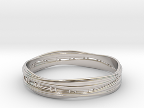Cloth ring2(Japan 18,America 9,Britain R)  in Rhodium Plated Brass