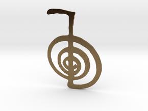 Reiki Power Symbol in Natural Bronze