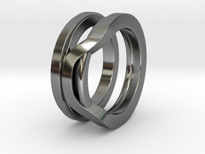 Balem's Ring1 - US-Size 8 1/2 (18.53 mm) in Fine Detail Polished Silver