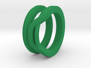 Balem's Ring1 - US-Size 9 (18.89 mm) in Green Processed Versatile Plastic