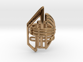 Balem's Ring2 - US-Size 7 (17.35 mm) in Polished Brass