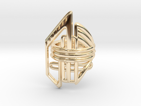 Balem's Ring2 - US-Size 5 1/2 (16.10 mm) in 14k Gold Plated Brass