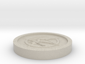 The hunger games Coin in Natural Sandstone