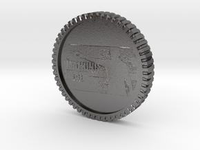 The walking dead coin in Polished Nickel Steel