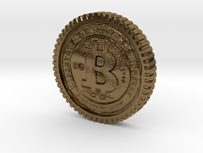 Bitcoin high detail in Polished Bronze