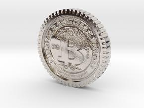 Bitcoin high detail in Platinum