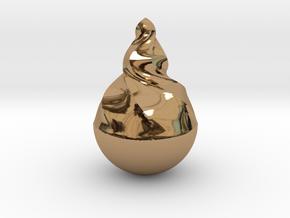 Tear2 in Polished Brass