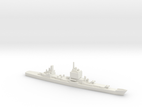 USS Long Beach, Final Layout, 1/2400 in White Natural Versatile Plastic