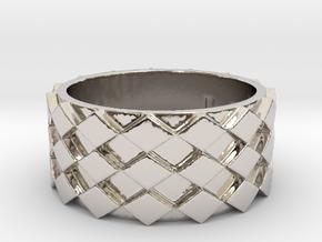 Futuristic Diamond Ring Size 9 in Platinum