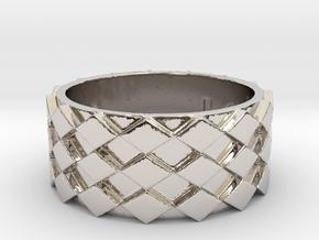 Futuristic Diamond Ring Size 10 in Platinum
