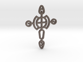 Cross / Cruz in Polished Bronzed Silver Steel
