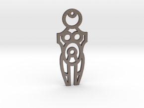 Maternity / Maternidad - Mother / Madre in Polished Bronzed Silver Steel