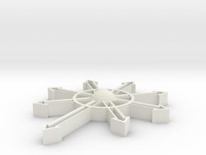 Chaos in White Natural Versatile Plastic