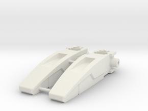 Blocky Glider Inlets in White Natural Versatile Plastic