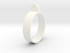 E-cig Mod Ring 24mm in White Processed Versatile Plastic