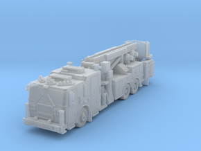 N Scale 1/160 Seagrave MII Aerialscope Marauder in Frosted Extreme Detail