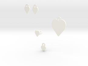 heart jewelry set in White Processed Versatile Plastic