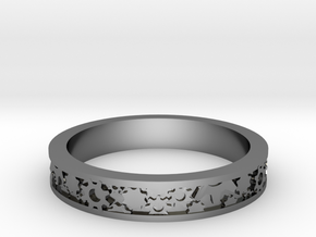 Elegant Ring with Gears: Size 4 1/4 in Fine Detail Polished Silver