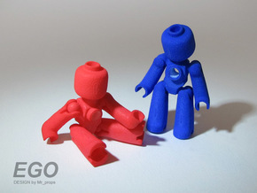 EGO miniature figure in White Natural Versatile Plastic
