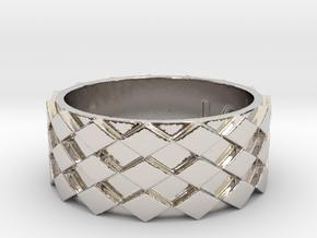 Futuristic Diamond Ring Size 12 in Platinum