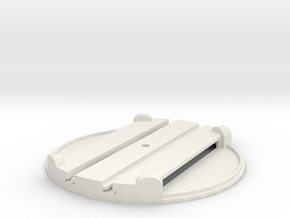T-9-small-turntable-48d-100-flat-1a in White Natural Versatile Plastic